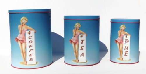 50's Style Pin-up Girl Coffee Tea or Me Themed Kitchen ...