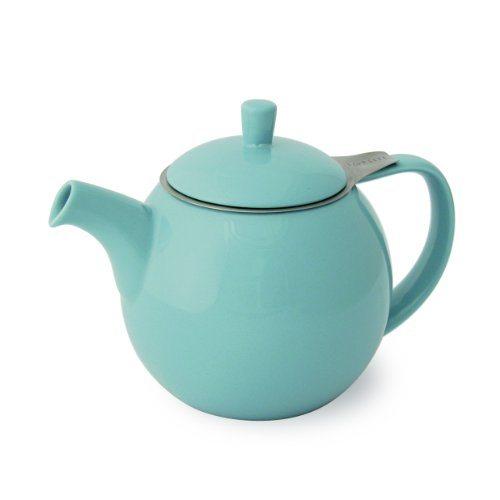 forlife curve 45 ounce teapot with infuser red best tea kettles and tea pots. Black Bedroom Furniture Sets. Home Design Ideas