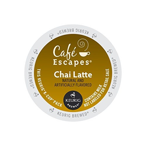 Keurig, Cafe Escapes, Chai Latte, K-Cup Packs, 72 Count