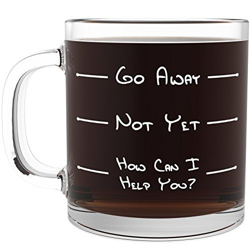 Go Away Funny Glass Coffee Mug Perfect Idea As Fathers Day Gifts