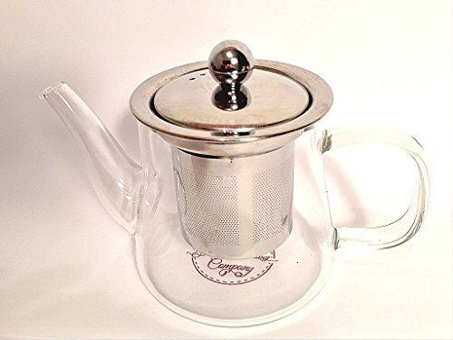 Glass teapot for one cup stainless steel loose leaf tea - Cup stainless steel teapot ...