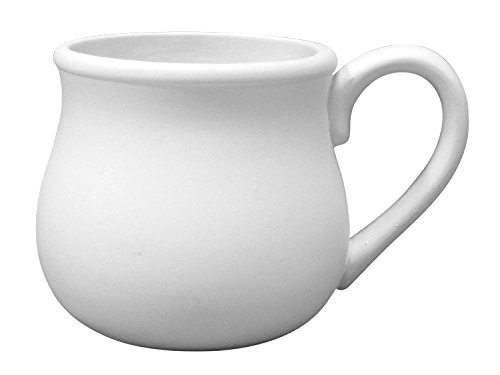Paint-a-Potamus Paint Your Own Ceramic Set of 4 Unfinished Low-Fire Ceramic Bisque The Perfect Mug