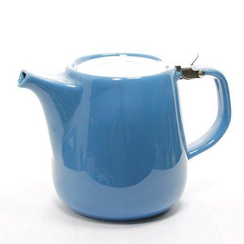 ... Daze Ceramic Teapot W/ Stainless Steel Lid U0026 Infuser U2013 #1 Best Teapot  To Brew Loose Leaf Tea (700ml / 24oz, ...