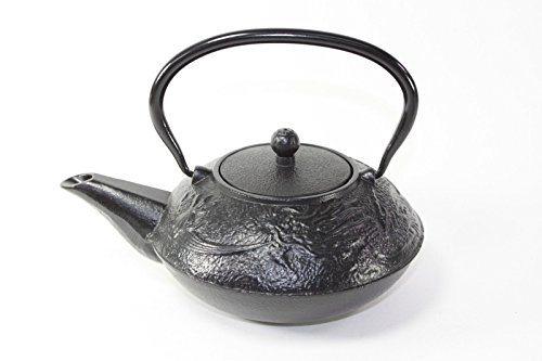 Japanese antique 24 fl oz black chinese dragon design cast iron teapot tetsubin with infuser - Dragon cast iron teapot ...