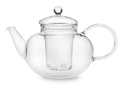 uendure tea infuser glass teapot for loose leaf tea tea. Black Bedroom Furniture Sets. Home Design Ideas