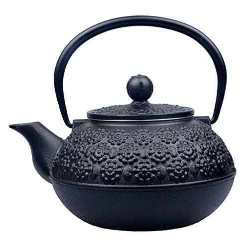 Sotya teapot japanese handmade cherry blossoms teapot stainless steel infuser 0 9litre black - Japanese teapot with infuser ...