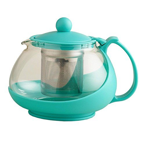 aqua glass teapot loose leaf tea infuser pot best tea. Black Bedroom Furniture Sets. Home Design Ideas