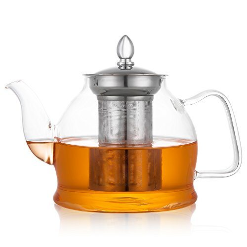 hiware glass teapot with removable infuser stovetop safe. Black Bedroom Furniture Sets. Home Design Ideas