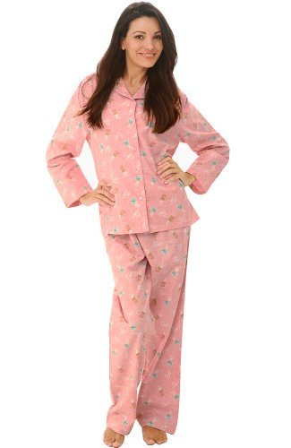 Del Rossa Women's Flannel Pajamas, Long Cotton Pj Set, XL Pink ...