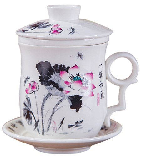 bandtie convenient travel office loose leaf tea brewing system chinese jingdezhen blue and white. Black Bedroom Furniture Sets. Home Design Ideas