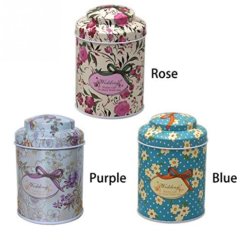 Kitchen Tea Sugar Coffee Storage Tin Box Portable 7 55 5cm Erfly Knot Line Drawing Style Pier 27