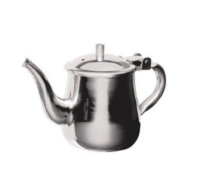Stainless steel gooseneck tea pot w vented hinged lid 10 - Cup stainless steel teapot ...