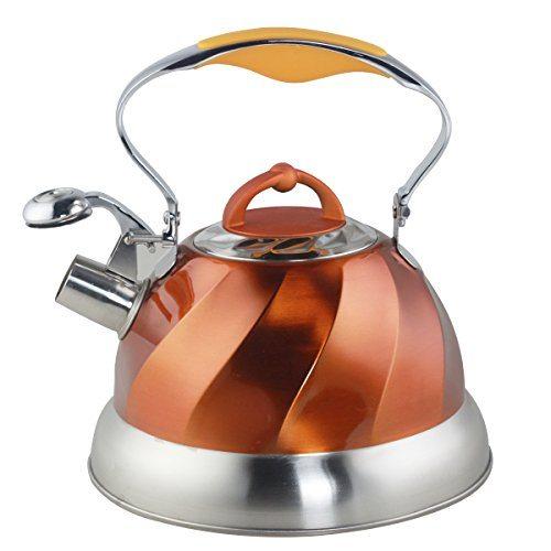 Riwendell Stainless Steel Whistling Tea Kettle 2 6 Quart