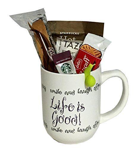 Coffee tea cocoa mug gift set with starbucks via