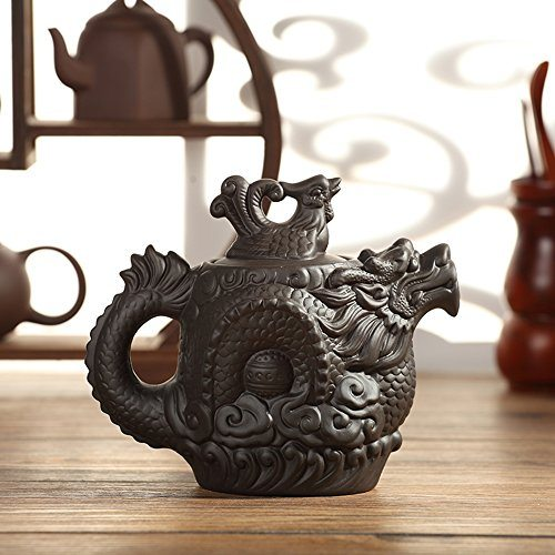 Xdobo tea pot dragon and phoenix ceramic chinese traditional kung fu teapot best tea kettles - Cast iron teapot dragon ...