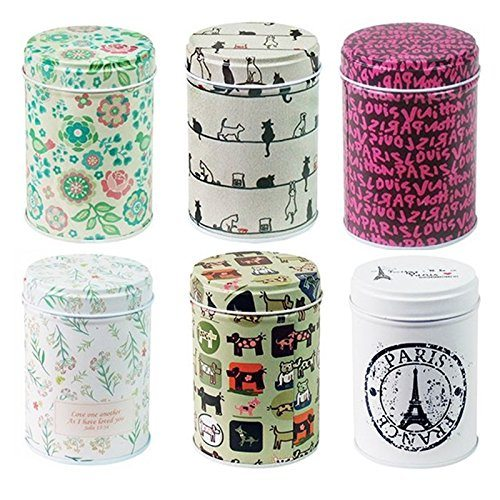 Leyoubei retro double cover home kitchen storage for Retro kitchen set of 6 spice tins