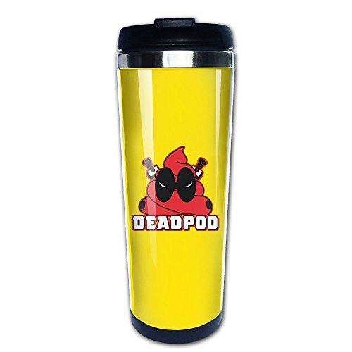 Meowcat mug funny deadpool a deadpoo stainless steel mug coffee thermos vacuum flask best - Funny coffee thermos ...