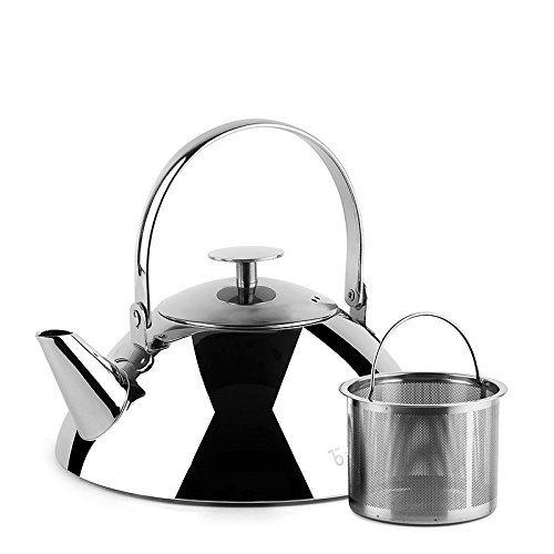 Stainless Steel Tea Kettle ~ Teabox pyramid stainless steel tea kettle with infuser