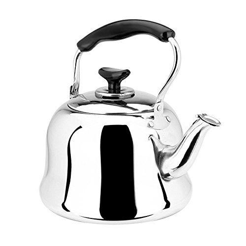 Stainless Steel Tea Kettle ~ Stovetop whistling tea kettle polished stainless steel