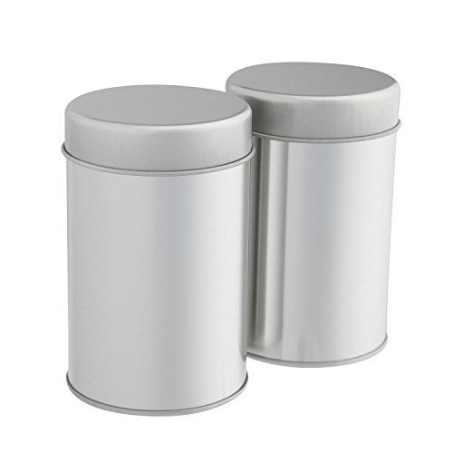 Tea Tins Canister Set with Airtight Double Lids for Loose Tea u2013 Small Kitchen Canisters for Tea Coffee Sugar Storage Loose Leaf Tea Tin Containers by ...  sc 1 st  Tea Kettles & Tea Tins Canister Set with Airtight Double Lids for Loose Tea ...