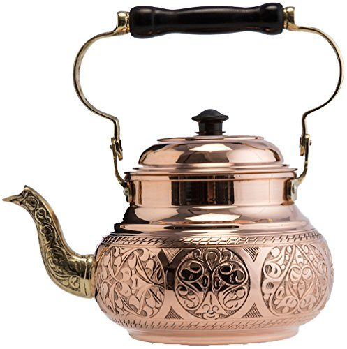 demmex 2017 hammered copper tea pot kettle stovetop teapot 1 6 quart engraved copper best. Black Bedroom Furniture Sets. Home Design Ideas