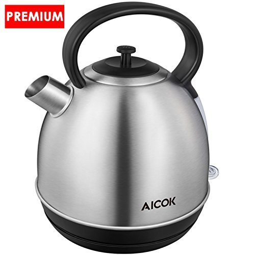 Aicok Electric Kettle Quick Boil Tea Kettle 1500Watts Durable Plus ...