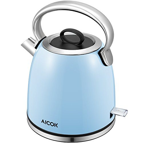 Aicok Electric Kettle, Fast Stainless Steel Tea Kettle with Anti ...