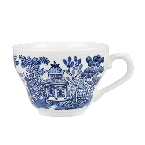 Churchill Blue Willow Fine China Earthenware Tea Cup 6.8 Oz Made In England  sc 1 st  Tea Kettles : blue willow dinnerware made in england - pezcame.com