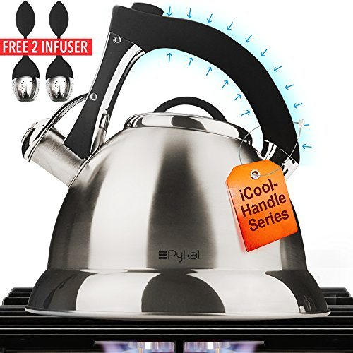 Whistling Tea Kettle With Icool Handle Surgical Stainless Steel