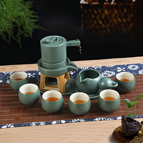 Chinese Ceramic Tea Service Set For 6 Adults Girl Tea Party With