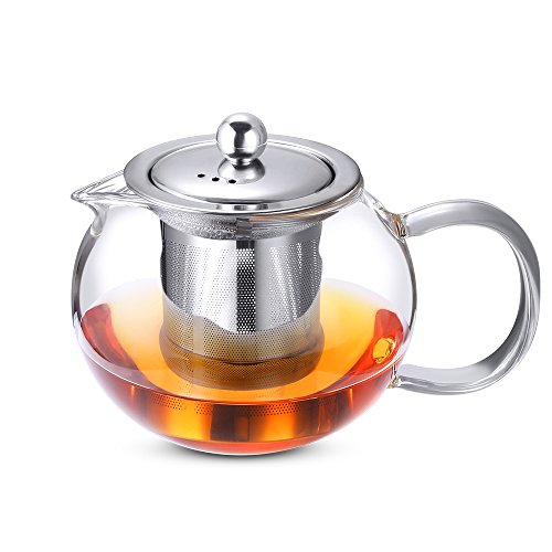 Cisno Glass Teapot With Stainless Steel Infuser And Lid Tea Maker
