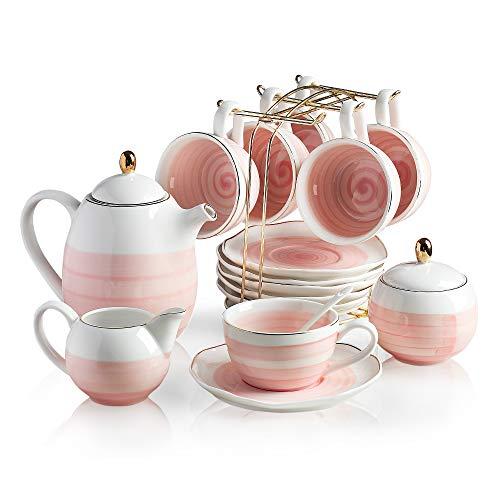 Sweejar Porcelain Tea Sets 8 Oz Cups