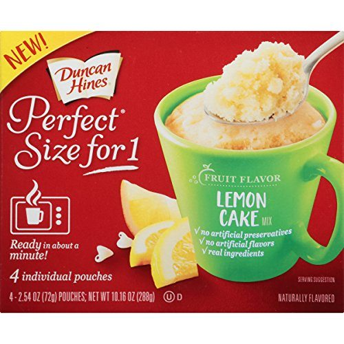 Duncan Hines Perfect Size for 1 Mug Cake Mix, Ready in ...