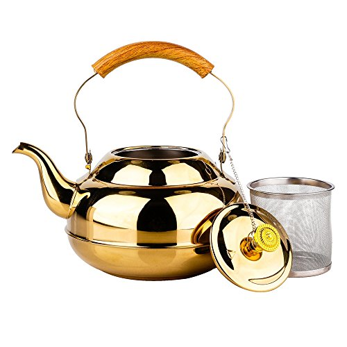 51 Oz Clear Glass Teapot 1500 ml Tea Hot Water Kettle For Flower or Loose Tea